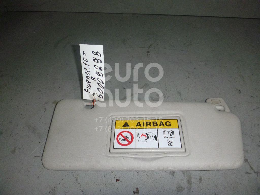 Козырек солнцезащитный (внутри) для Renault Fluence 2010> - Фото №1