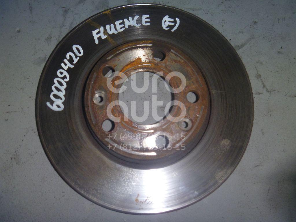 Диск тормозной передний вентилируемый для Renault Fluence 2010>;Laguna II 2001-2008;Megane III 2009-2016;Scenic 2009-2015 - Фото №1