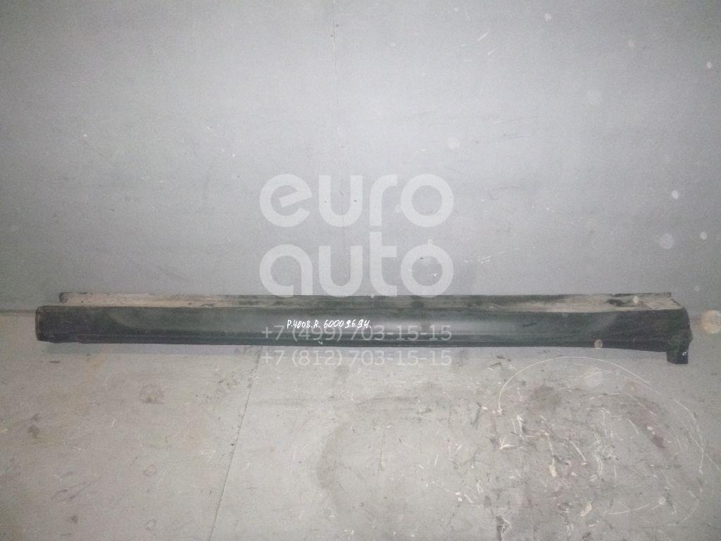 Накладка на порог (наружная) для Peugeot,Citroen 4008 2012>;C4 Aircross 2012> - Фото №1