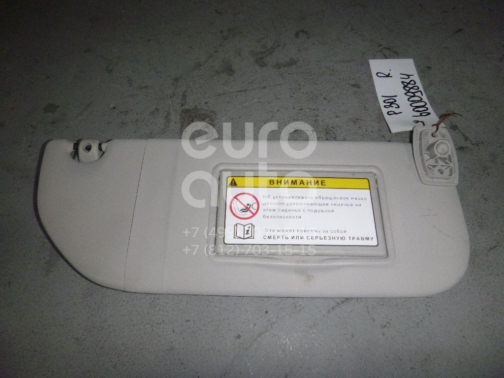 Козырек солнцезащитный (внутри) для Peugeot,Citroen 301 2013>;C-Elysee 2012> - Фото №1
