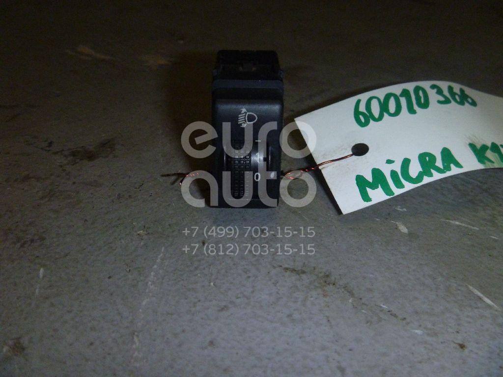 Кнопка корректора фар для Nissan Micra (K12E) 2002-2010;Note (E11) 2006-2013 - Фото №1