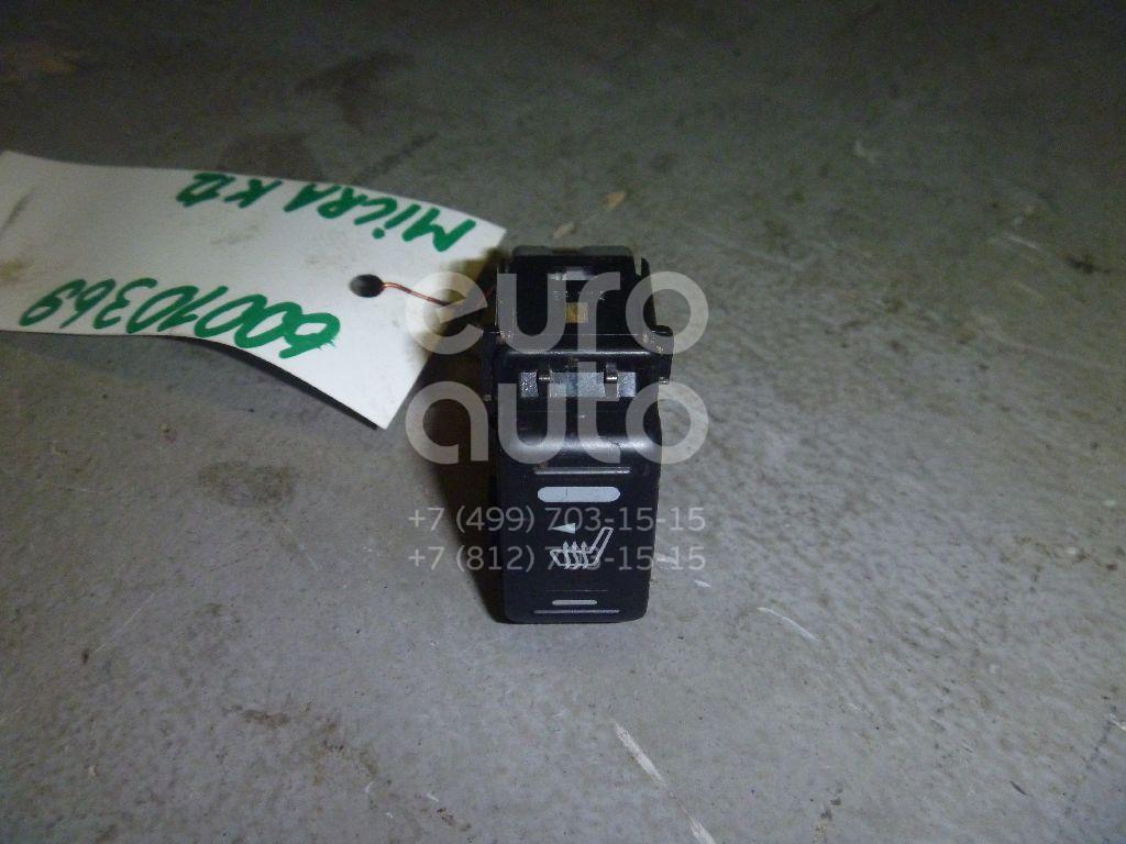 Кнопка обогрева сидений для Nissan,Infiniti Micra (K12E) 2002-2010;Patrol (Y61) 1997-2009;Murano (Z50) 2004-2008;Pathfinder (R51M) 2004-2013;FX (S50) 2003-2007;Teana J31 2006-2008;Note (E11) 2006-2013;X-Trail (T30) 2001-2006;Navara (D40) 2005-2015 - Фото №1