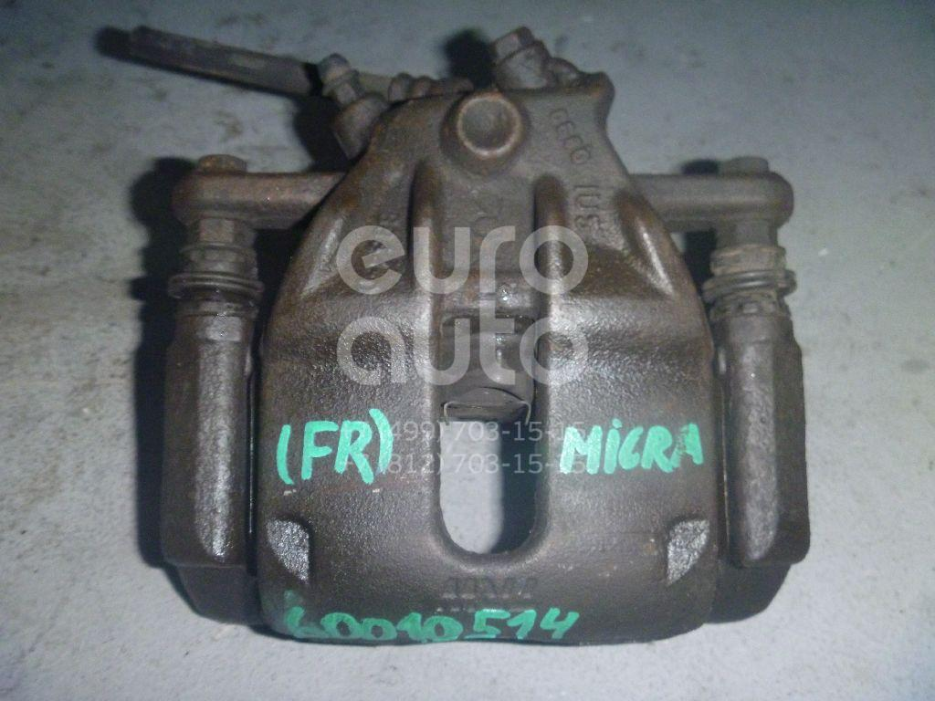 Суппорт передний правый для Nissan Micra (K12E) 2002>;Note (E11) 2006-2013 - Фото №1