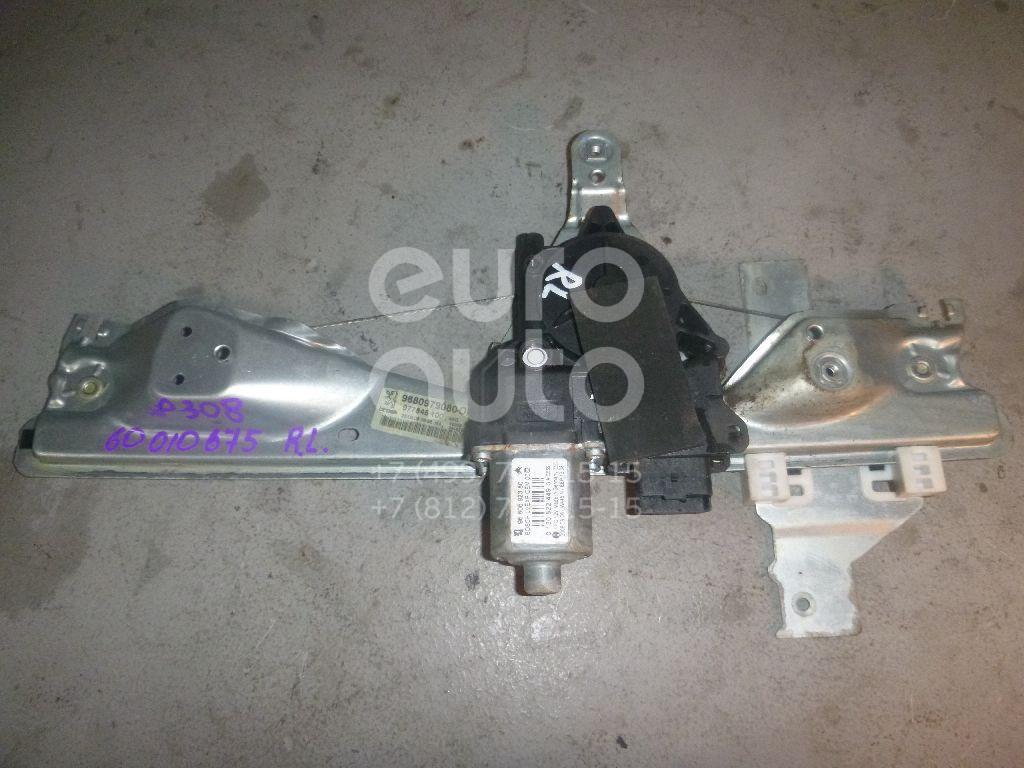 Стеклоподъемник электр. задний левый для Peugeot 308 2007-2015 - Фото №1