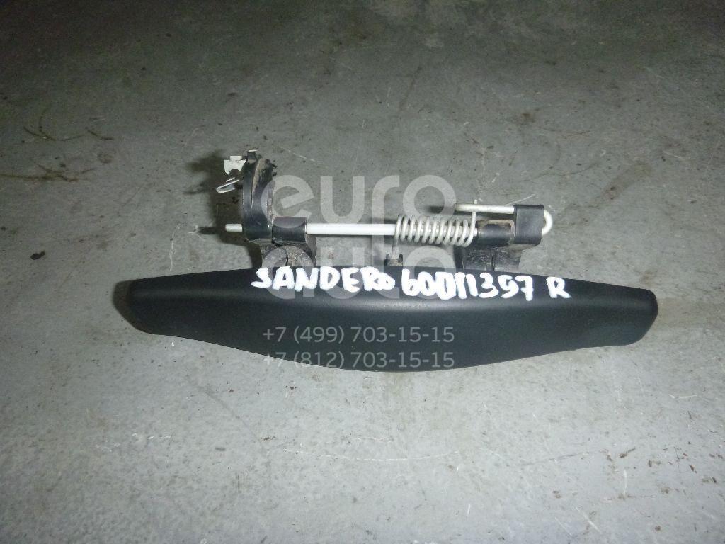 Ручка двери наружная правая для Renault Sandero 2009-2014 - Фото №1