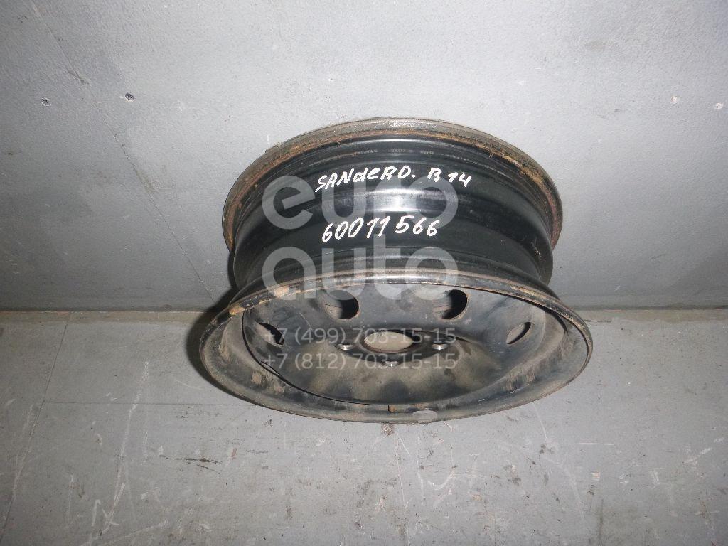 Диск колесный железо для Renault Sandero 2009-2014 - Фото №1