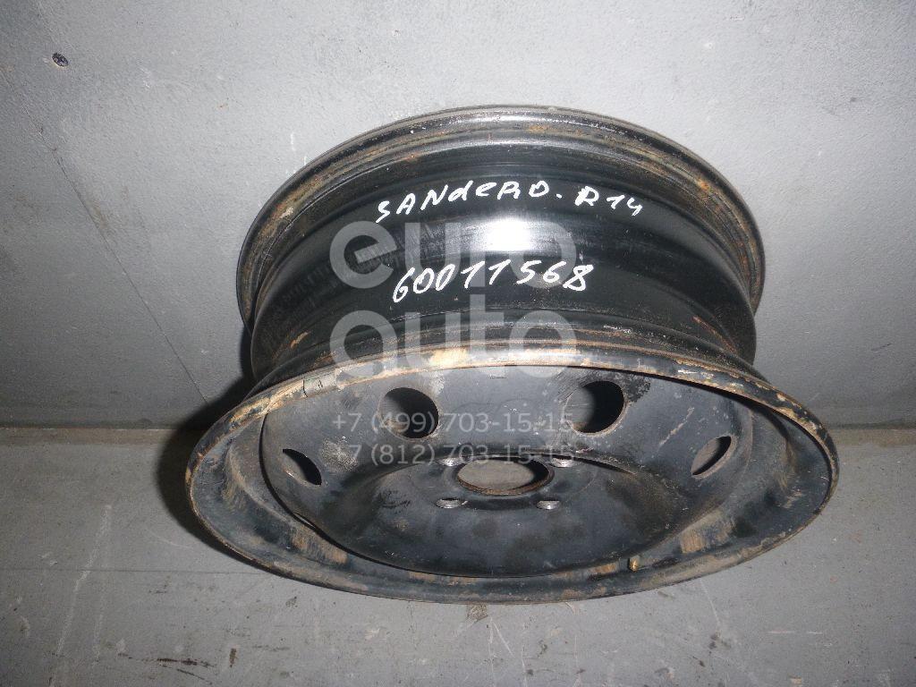 Диск колесный железо для Renault Sandero 2009-2014;Logan 2005-2014 - Фото №1
