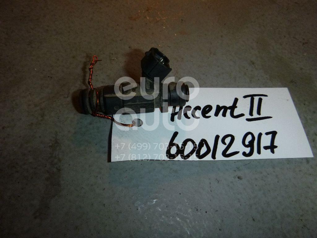 Форсунка инжекторная электрическая для Hyundai,Kia Accent II (+ТАГАЗ) 2000-2012;Getz 2002-2010;Coupe (RD) 1996-2002;Elantra 2000-2006;Matrix 2001-2010;Coupe (GK) 2002-2009;Cerato 2004-2008;Atos Prime 1999-2007 - Фото №1