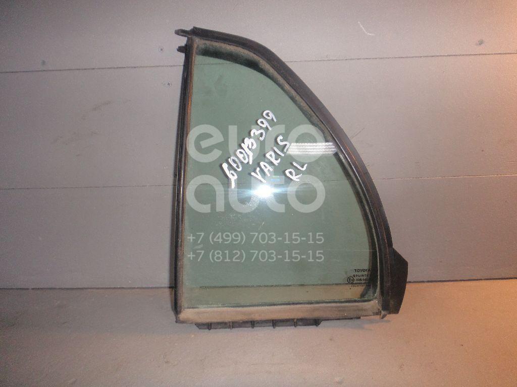 Стекло двери задней левой (форточка) для Toyota Yaris 2005-2011 - Фото №1