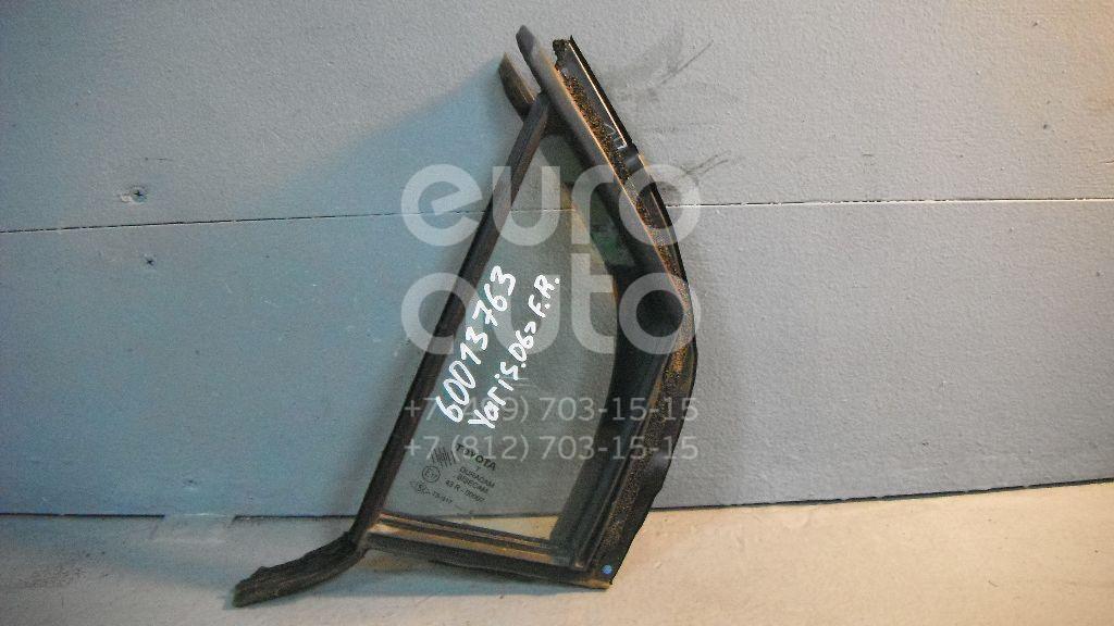 Стекло двери передней правой (форточка) для Toyota Yaris 2005-2011 - Фото №1