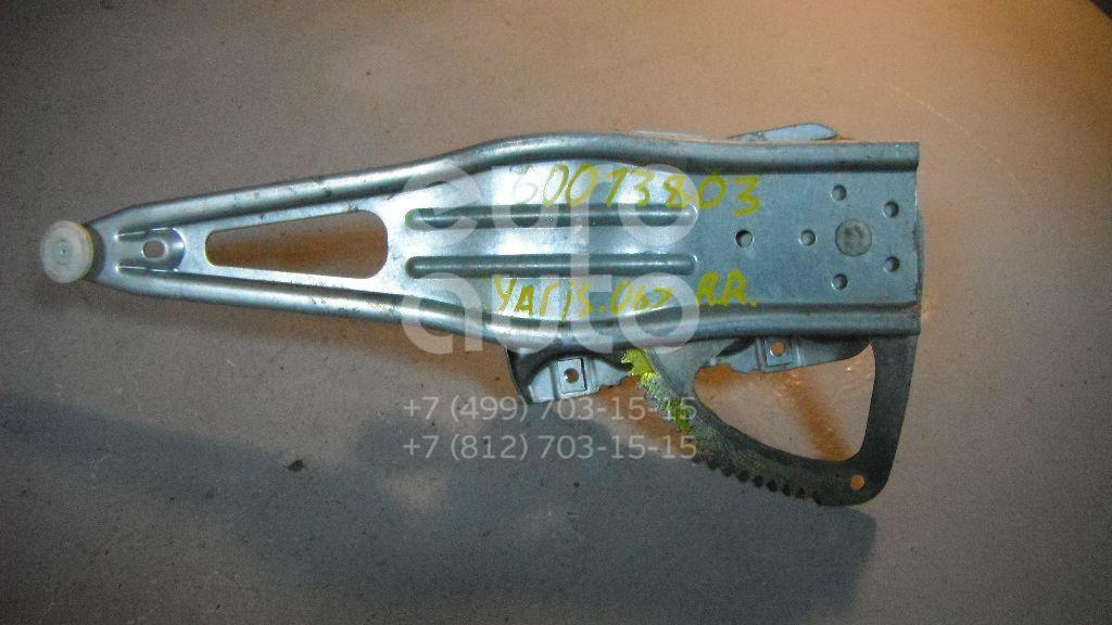 Стеклоподъемник механ. задний правый для Toyota Yaris 2005-2011 - Фото №1