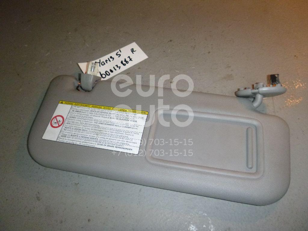 Козырек солнцезащитный (внутри) для Toyota Yaris 2005-2011 - Фото №1