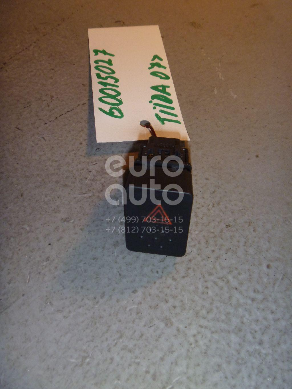 Кнопка аварийной сигнализации для Nissan Tiida (C11) 2007-2014 - Фото №1