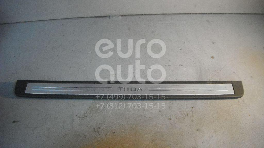 Накладка порога (внутренняя) для Nissan Tiida (C11) 2007-2014 - Фото №1