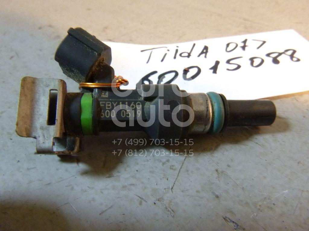Форсунка инжекторная электрическая для Nissan Tiida (C11) 2007-2014;Note (E11) 2006-2013;Micra (K12E) 2002-2010;Qashqai (J10) 2006-2014;Qashqai+2 (JJ10) 2008-2014 - Фото №1