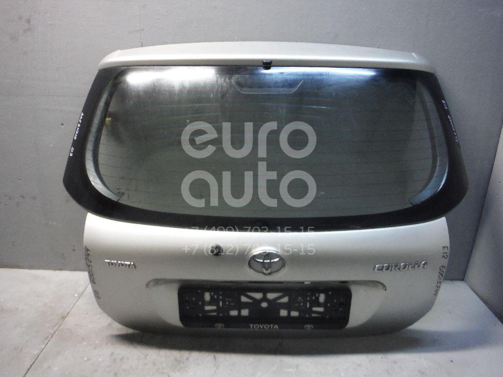 Дверь багажника со стеклом для Toyota Corolla E12 2001-2007 - Фото №1