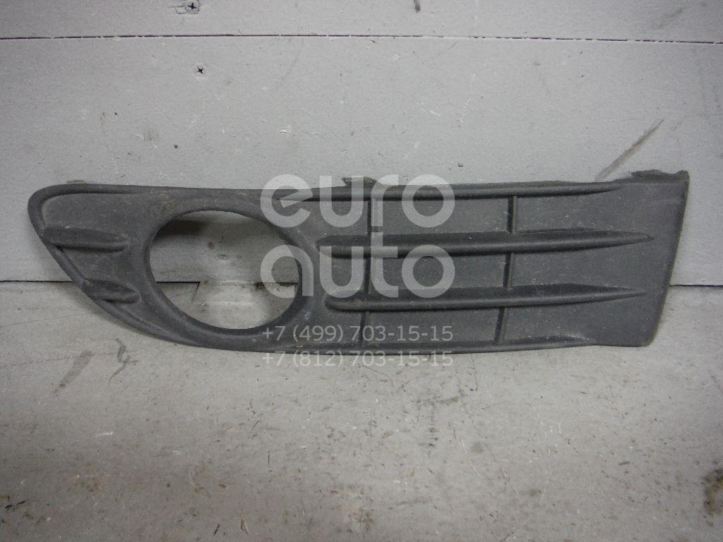 Решетка в бампер левая для Volvo S40 2004-2012;V50 2004-2012 - Фото №1