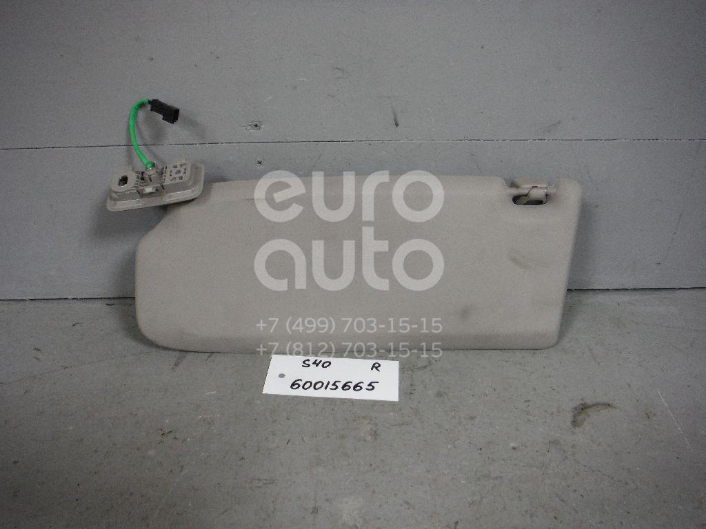 Козырек солнцезащитный (внутри) для Volvo S40 2004-2012 - Фото №1