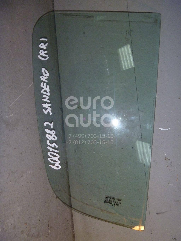 Стекло двери задней правой (форточка) для Renault Sandero 2009-2014 - Фото №1