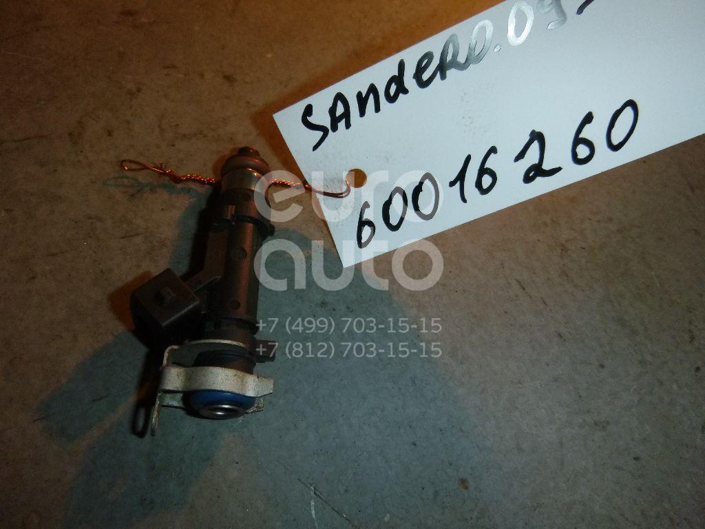 Форсунка инжекторная электрическая для Renault Sandero 2009-2014;Logan 2005-2014;Kangoo 2008>;Logan II 2014>;Sandero 2014> - Фото №1