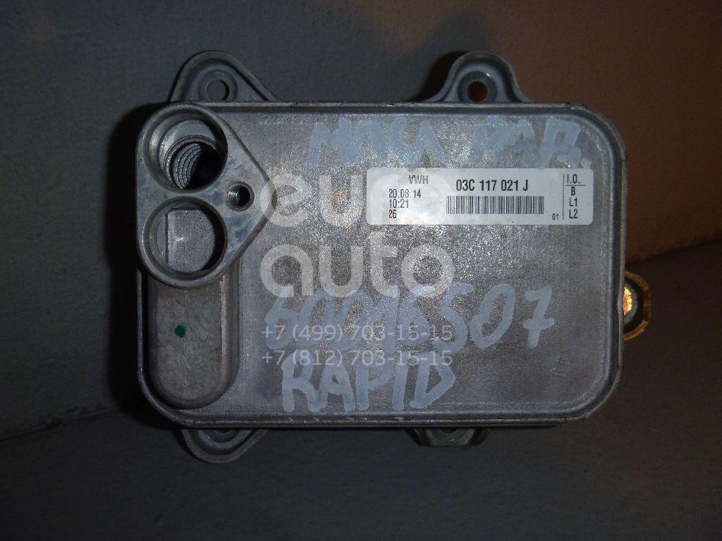 Радиатор масляный для Skoda,Audi,VW,Seat Rapid 2013>;A3 [8PA] Sportback 2004-2013;Golf V Plus 2005-2014;Passat [B6] 2005-2010;Golf V 2003-2009;Touran 2003-2010;A3 [8P1] 2003-2013;Jetta 2006-2011;Ibiza V 2008>;Fabia 2007-2015;Tiguan 2007-2011 - Фото №1