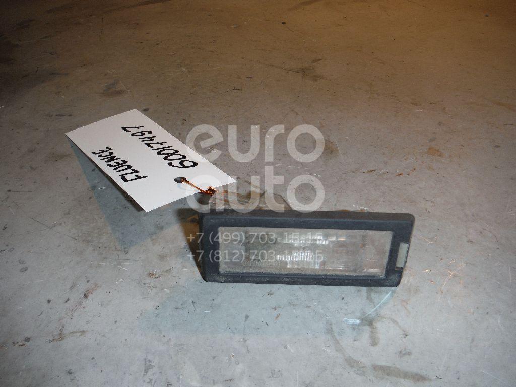 Фонарь подсветки номера для Renault Fluence 2010>;Espace IV 2002-2014;Scenic 2003-2009;Laguna II 2001-2008;Clio III 2005-2012;Laguna III 2009>;Modus 2004>;Scenic 2009>;Latitude 2010>;Duster 2012> - Фото №1
