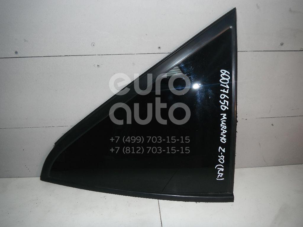 Стекло кузовное глухое правое для Nissan Murano (Z50) 2004-2008 - Фото №1
