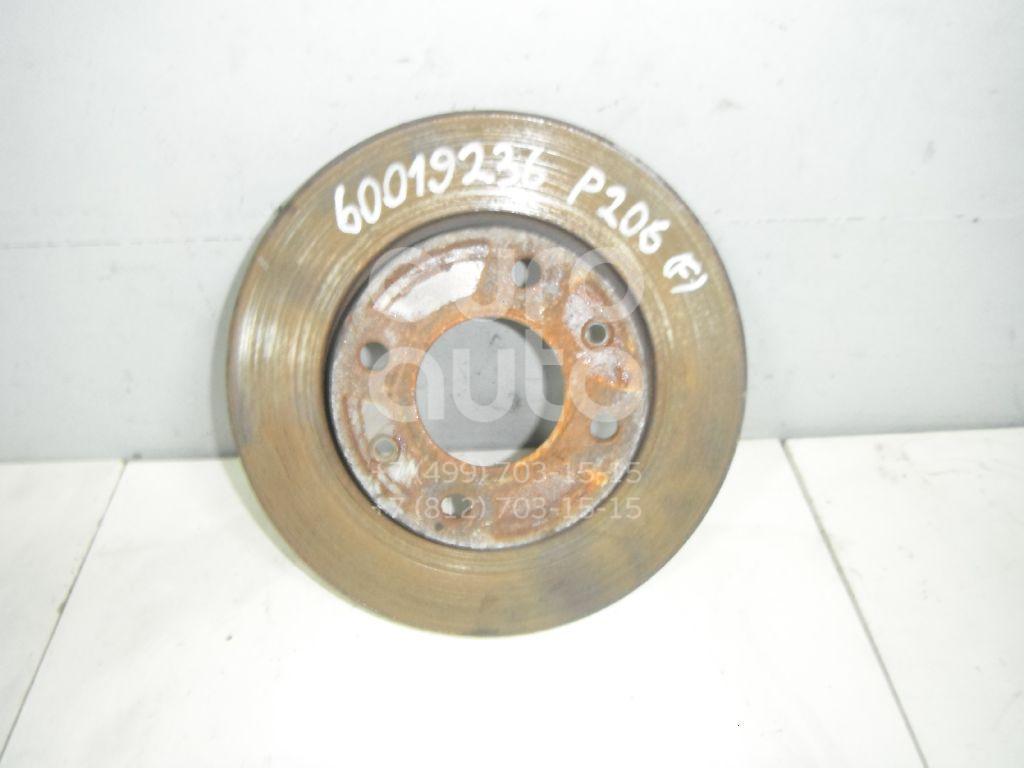 Диск тормозной передний не вентилируемый для Peugeot,Citroen 206 1998-2012;Xsara 1997-2000;306 1993-2003 - Фото №1