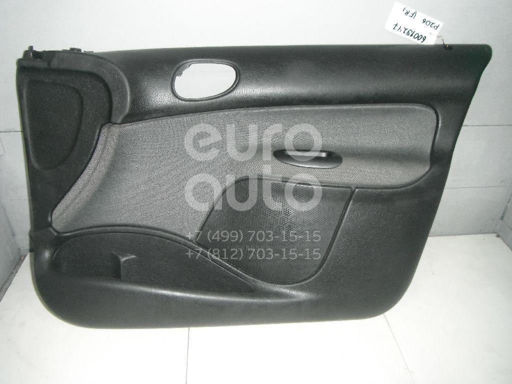 Обшивка двери передней правой для Peugeot 206 1998-2012 - Фото №1