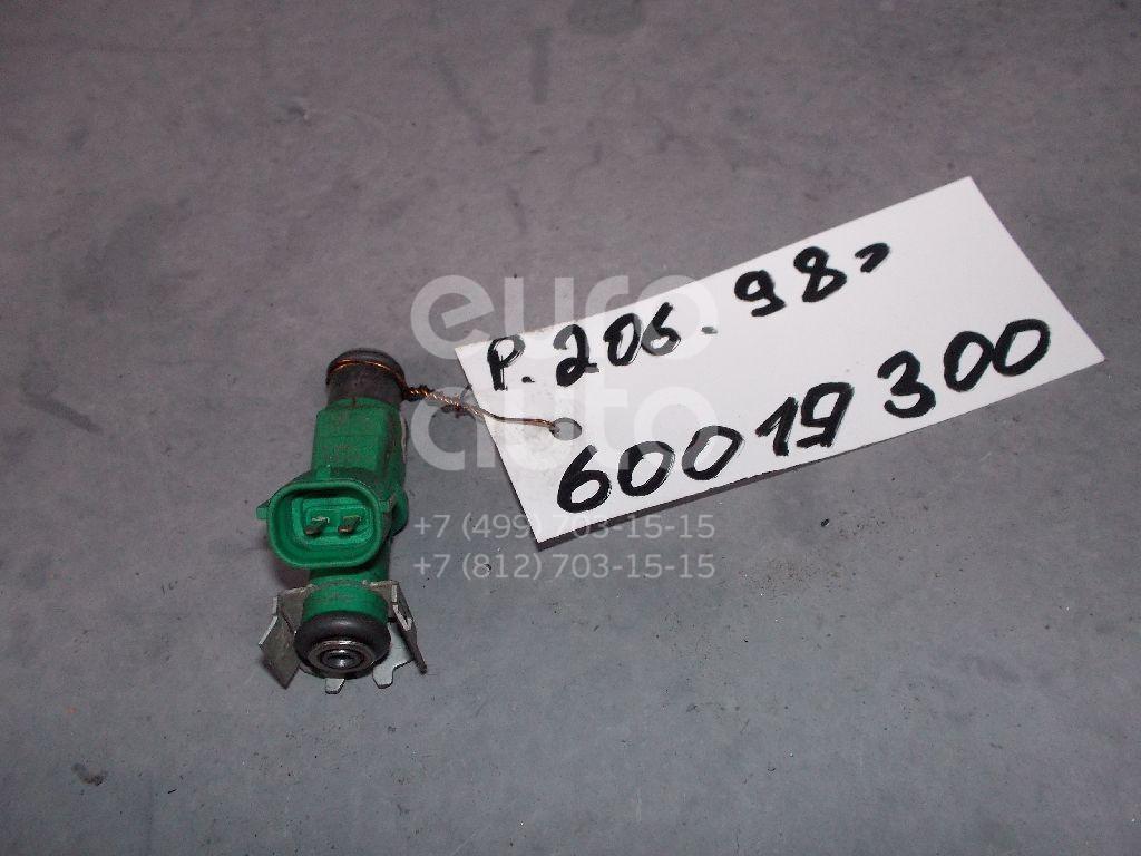 Форсунка инжекторная электрическая для Peugeot 206 1998>;C2 2003>;207 2006>;1007 2005>;C3 2002-2009;Nemo 2008>;Bipper 2008> - Фото №1