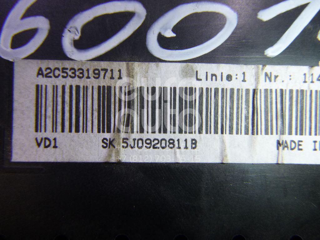Панель приборов для Skoda Fabia 2007-2015;Roomster 2006-2015 - Фото №1