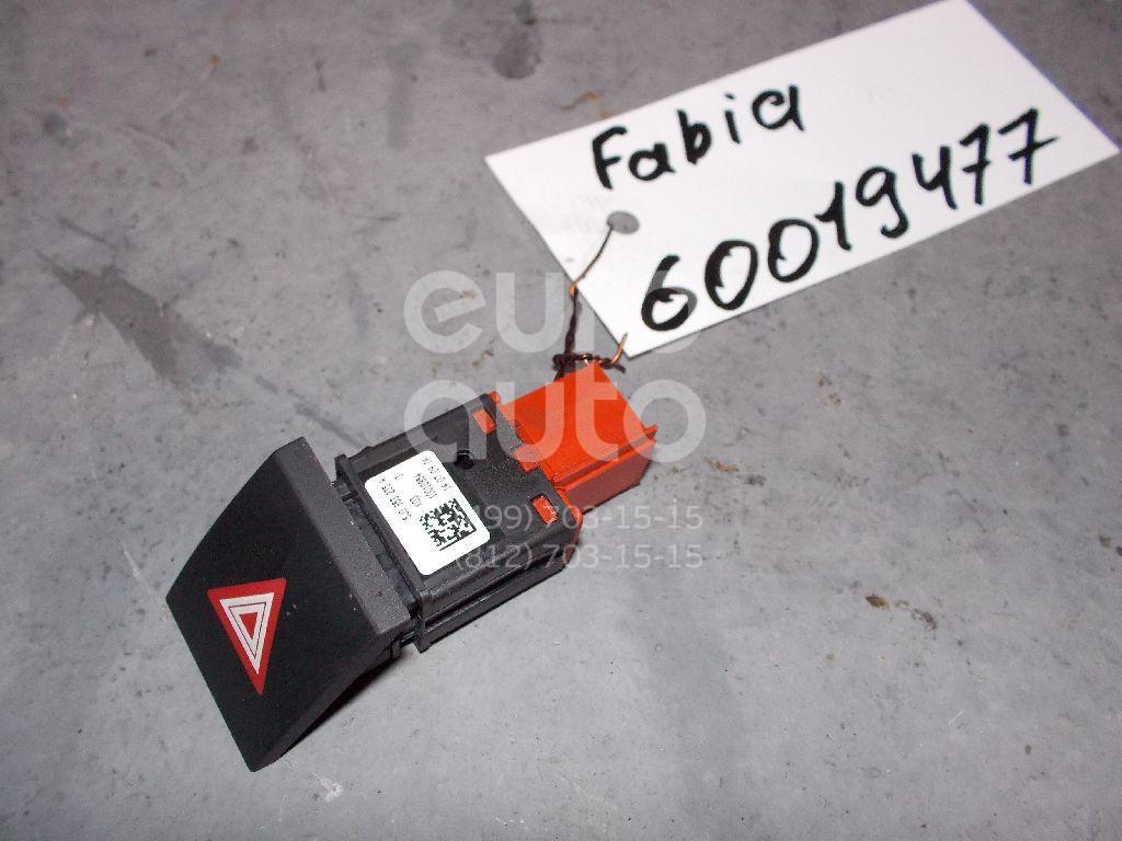 Кнопка аварийной сигнализации для Skoda Fabia 2007-2015;Roomster 2006-2015 - Фото №1