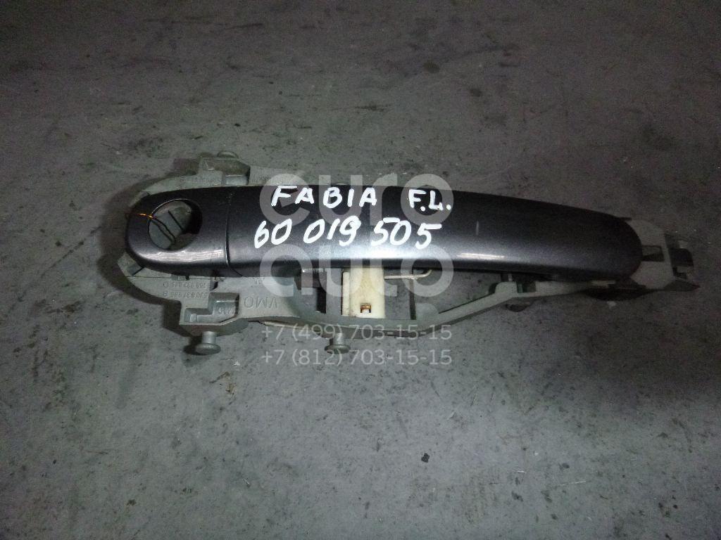 Ручка двери передней наружная левая для Skoda Fabia 2007-2015 - Фото №1