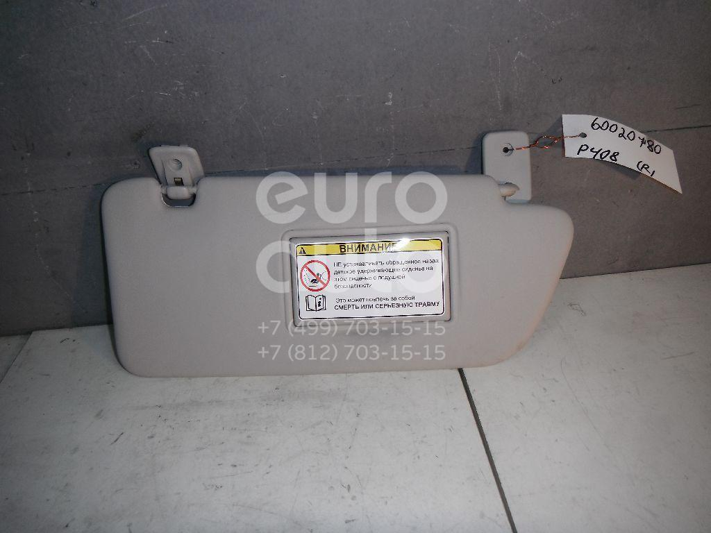 Козырек солнцезащитный (внутри) для Peugeot 408 2012> - Фото №1