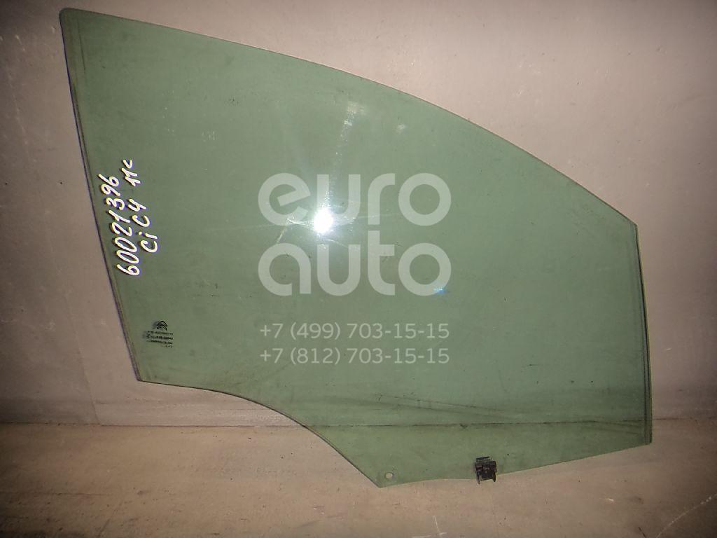 Стекло двери передней правой для Citroen C4 II 2011> - Фото №1