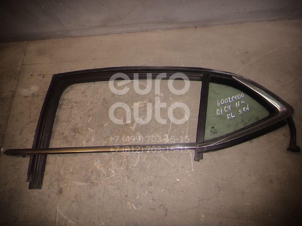 Стекло двери задней левой (форточка) для Citroen C4 II 2011> - Фото №1