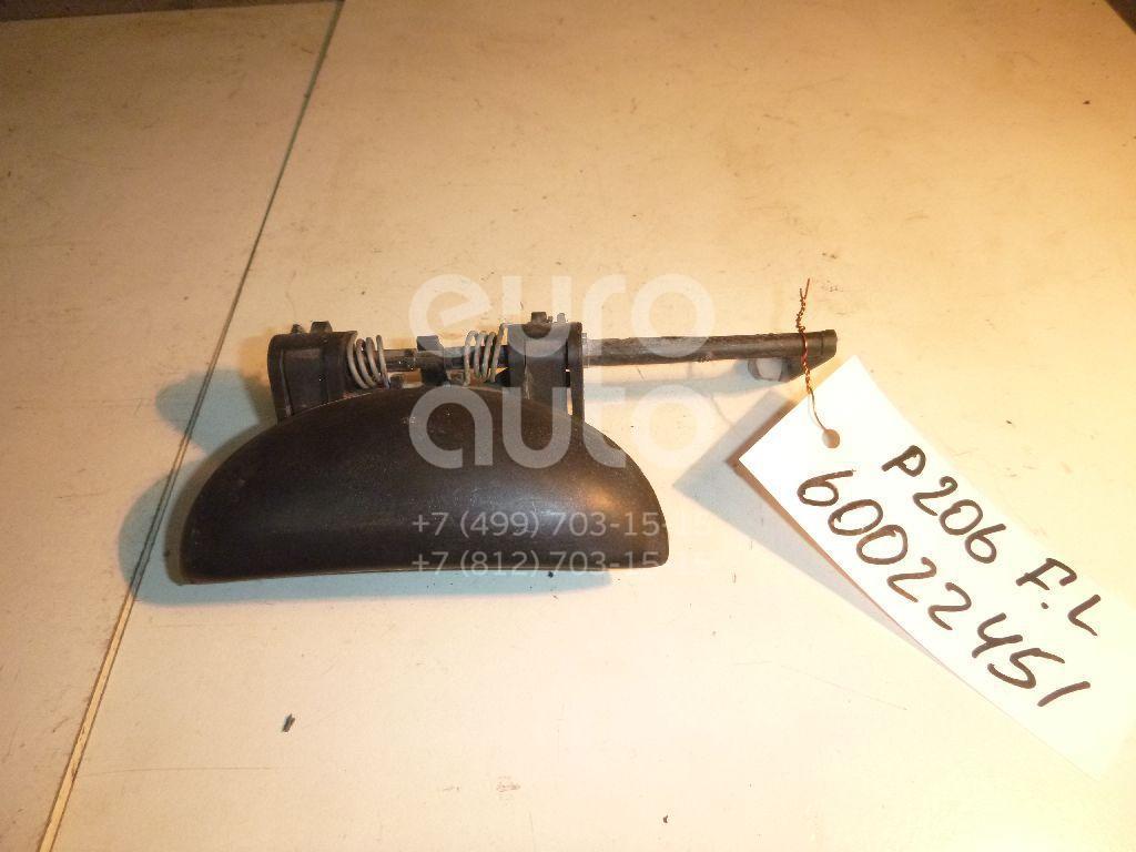 Ручка двери передней наружная левая для Peugeot 206 1998> - Фото №1