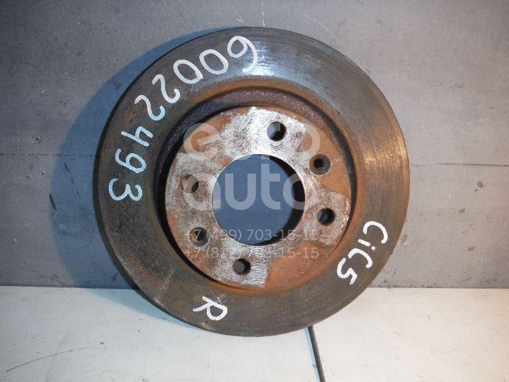 Диск тормозной задний для Citroen C5 2005-2008 - Фото №1
