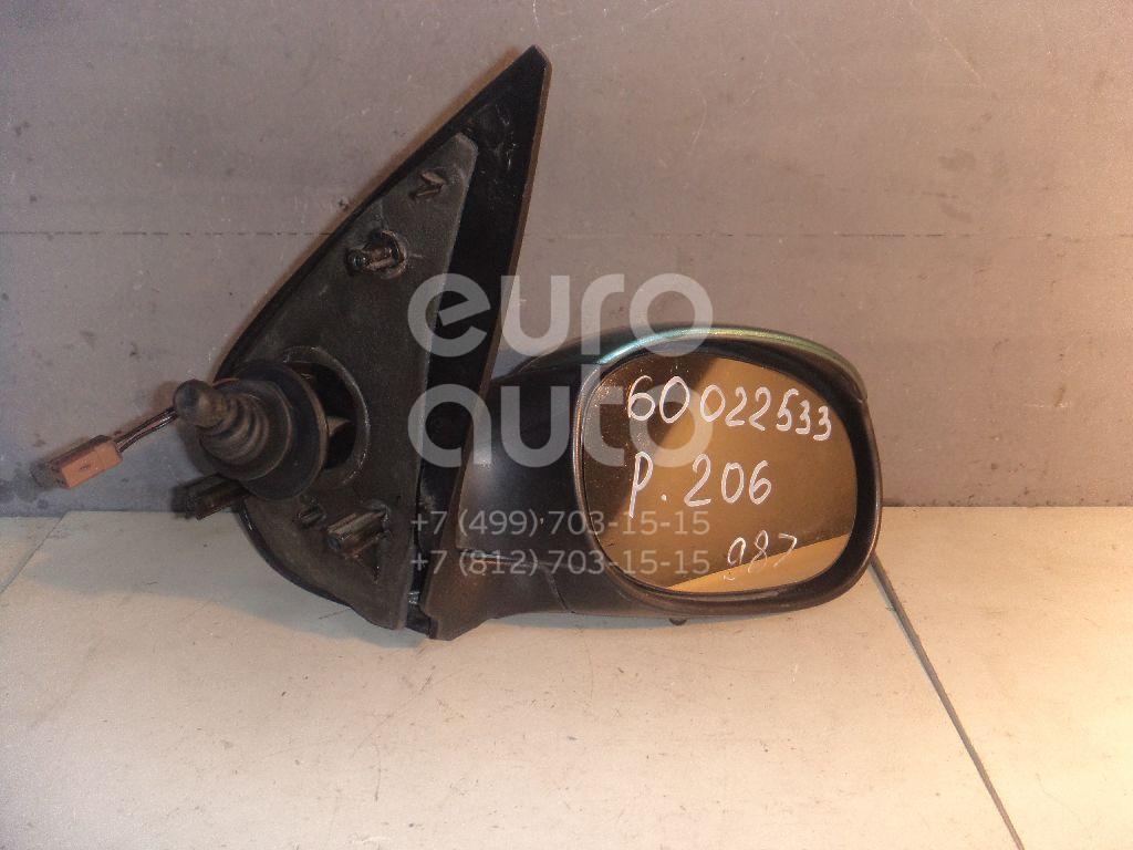 Зеркало правое механическое для Peugeot 206 1998> - Фото №1