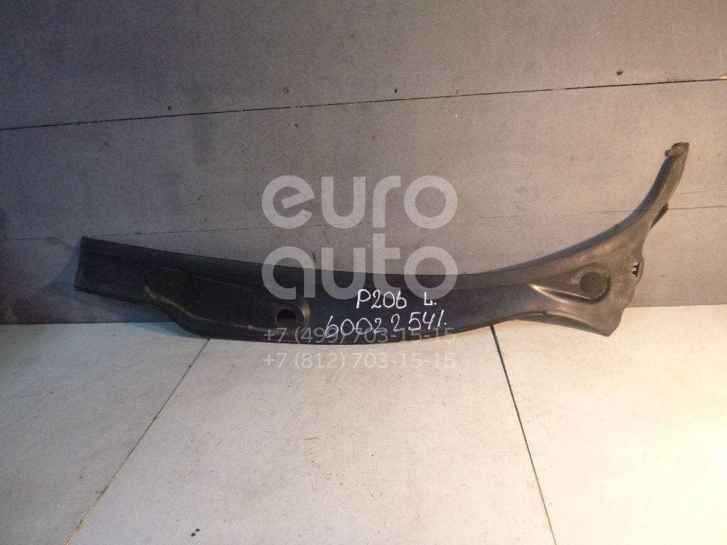 Решетка стеклооч. (планка под лобовое стекло) для Peugeot 206 1998-2012 - Фото №1