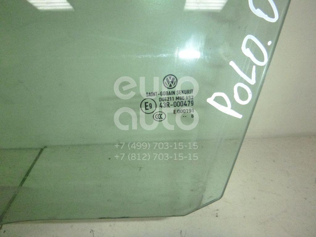Стекло двери передней левой для VW Polo 2001-2009 - Фото №1