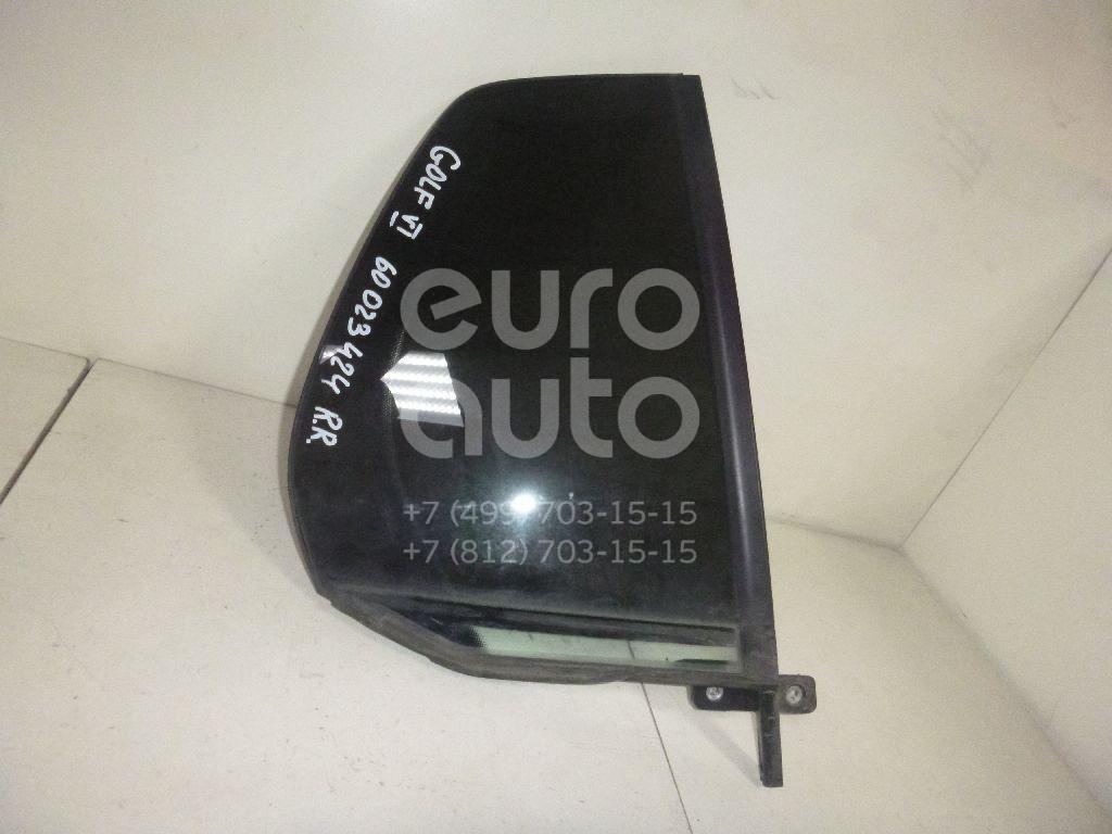 Стекло двери задней правой (форточка) для VW Golf VI 2009-2013 - Фото №1