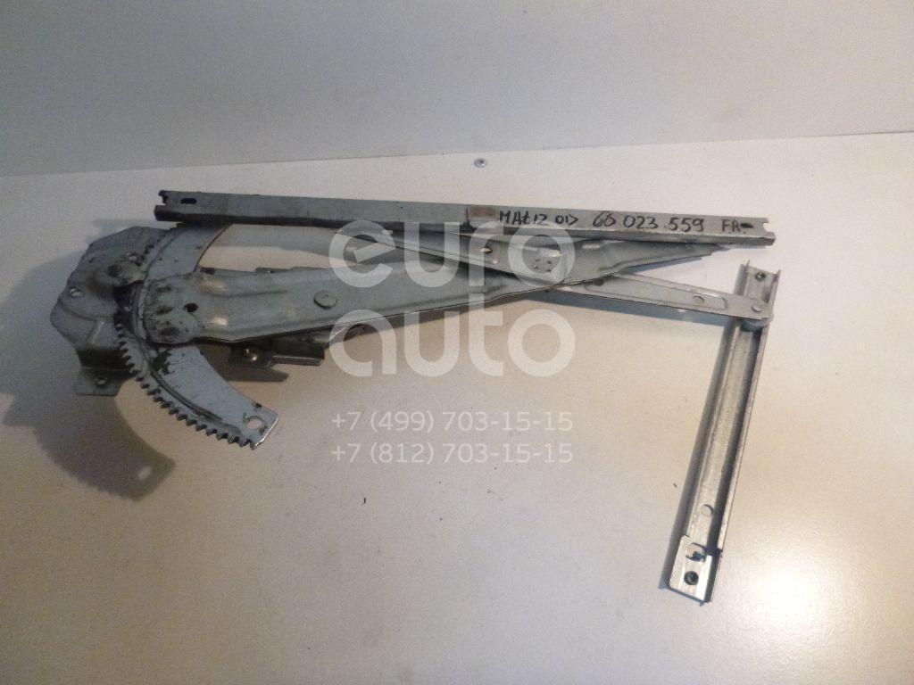 Стеклоподъемник механ. передний правый для Daewoo Matiz 2001>;Matiz (KLYA) 1998> - Фото №1