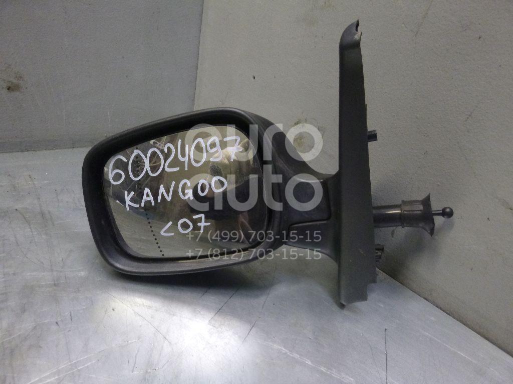 Зеркало левое механическое для Renault Kangoo 2003-2007 - Фото №1