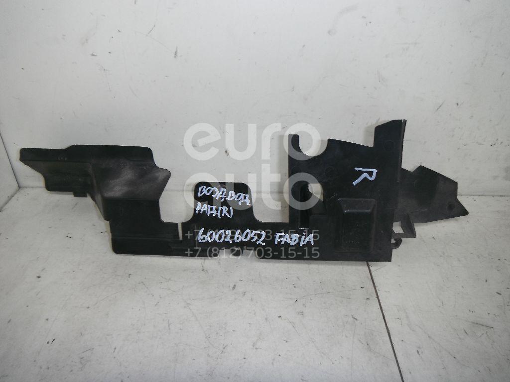 Воздуховод радиатора правый для Skoda Fabia 2007-2015 - Фото №1
