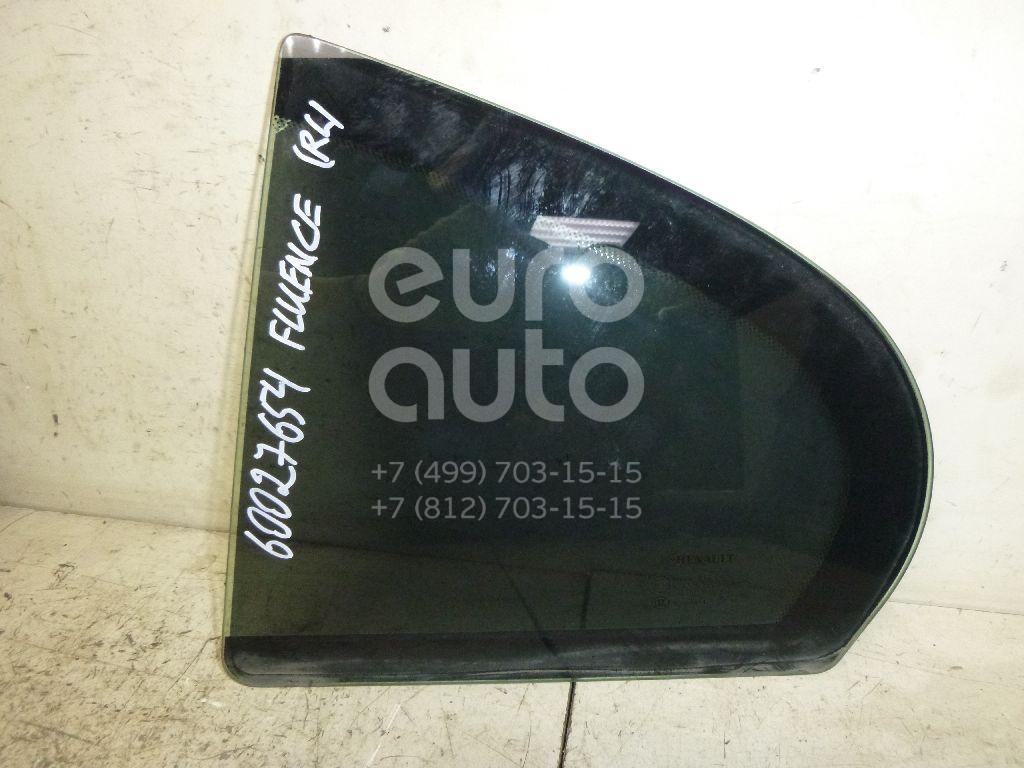 Стекло двери задней левой (форточка) для Renault Fluence 2010> - Фото №1