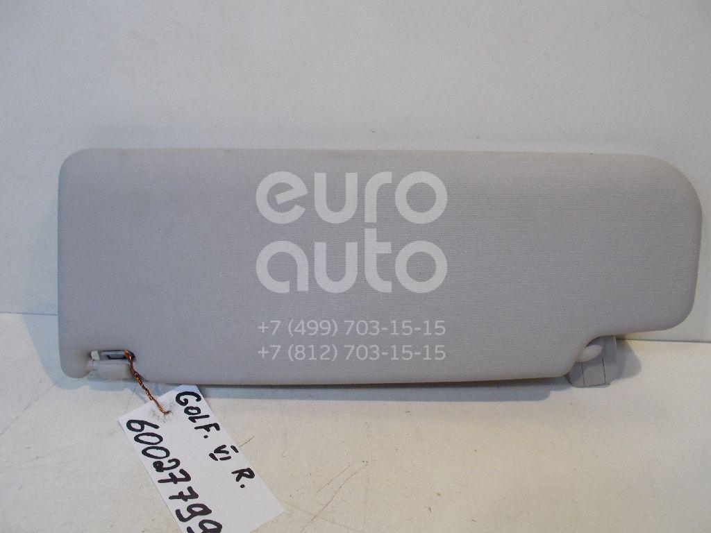 Козырек солнцезащитный (внутри) для VW Golf VI 2009-2012;Golf V Plus 2005-2014;Passat [B6] 2005-2010;Golf V 2003-2009;Passat CC 2008> - Фото №1