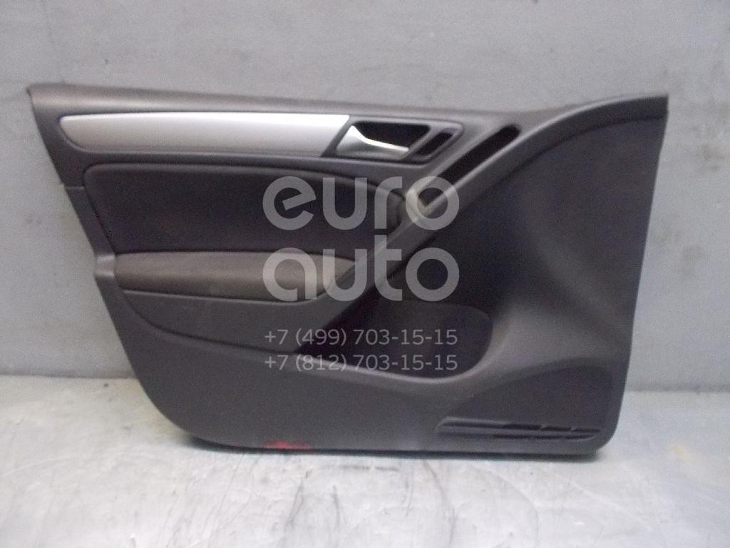 Обшивка двери передней левой для VW Golf VI 2009-2012 - Фото №1