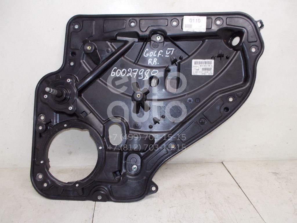 Стеклоподъемник механ. задний правый для VW Golf VI 2009-2012 - Фото №1