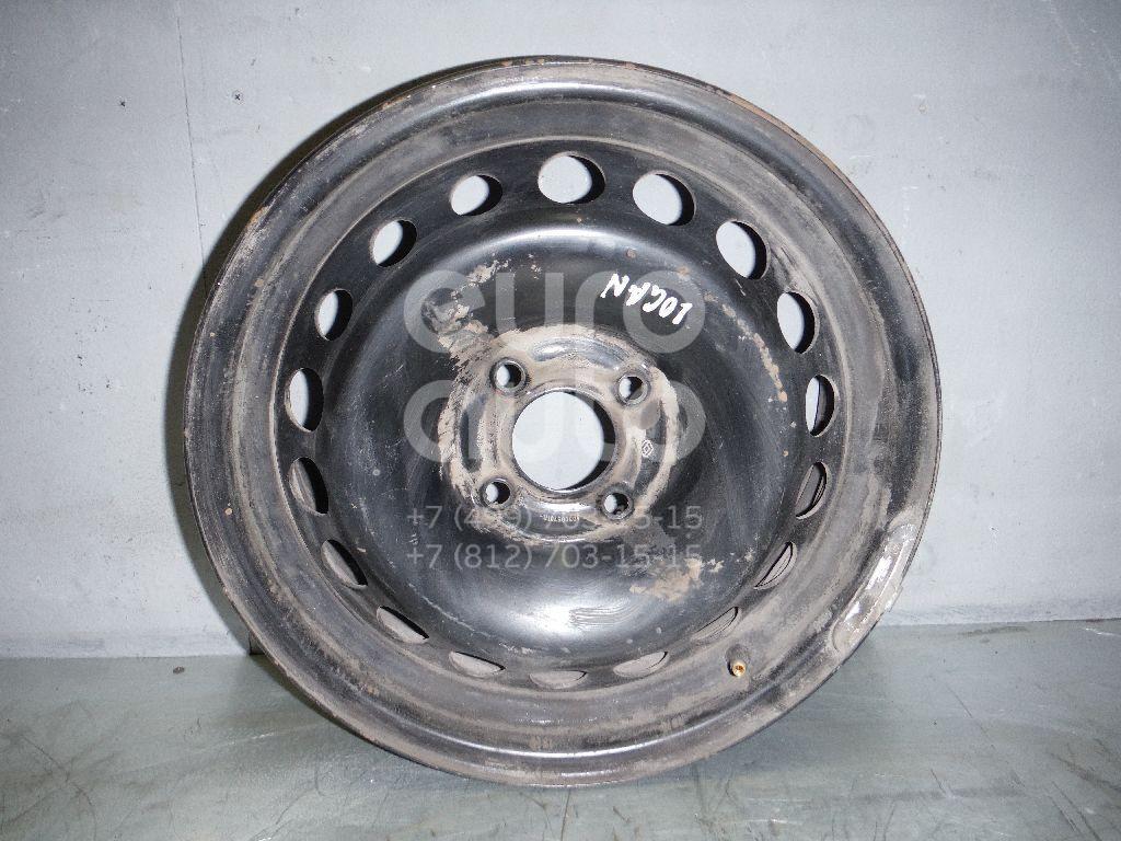 Диск колесный железо для Renault Logan II 2014>;Sandero 2014> - Фото №1